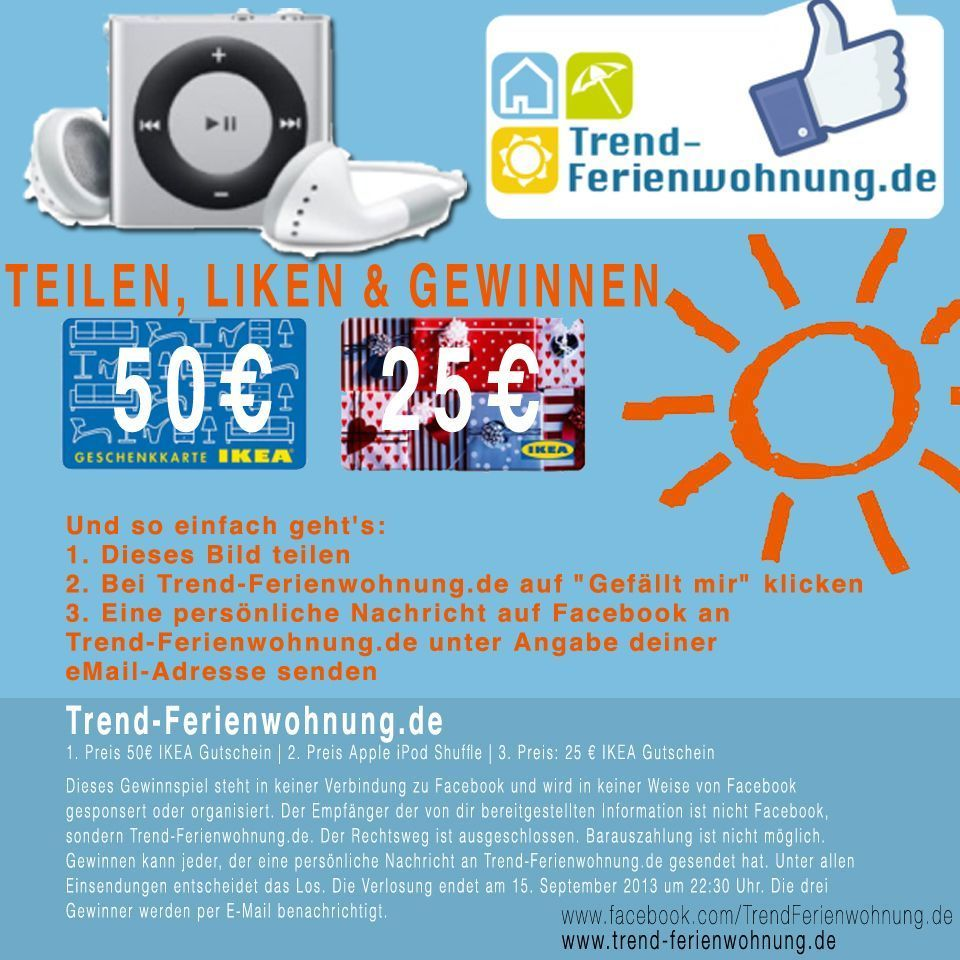 Gewinnspiel Trend-Ferienwohnung.de